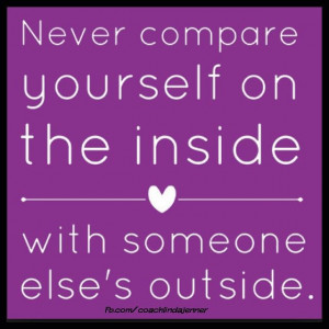 how to stop comparing yourself to thers