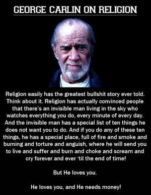 George Carlin on religion.