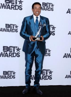 Smokey Robinson Picture 42 2015 BET Awards Press Room