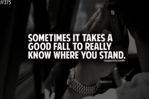 Know where you stand....