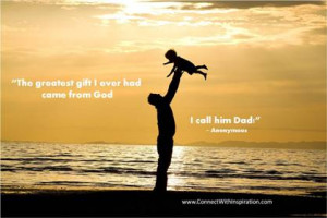Father picking up Son on a beach, Fathers Day Quote, relationship