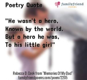Poem Of The Day - Father Poems, Memories Of My Dad