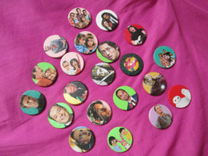 Here's some of the glitter buttons for sale in my shop!