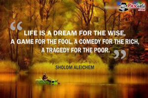 Life is a dream wise quote and you like these wise quotes about life.