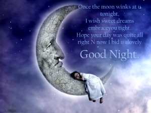 Lovely good night quotes wallpaper