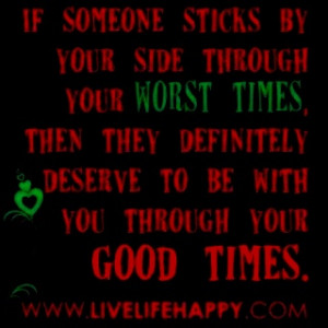 Through the good & bad, thick and thin