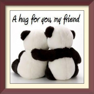 Send this memorable hug frame to your best friends.