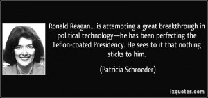 Ronald Reagan... is attempting a great breakthrough in political ...