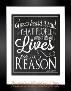 lives for a reason