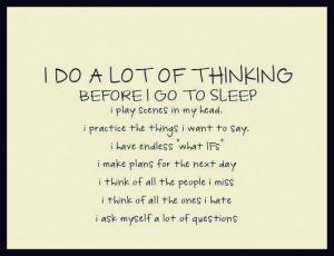 before I go to sleep...