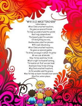 Teacher Appreciation Poems Teacher apprec.