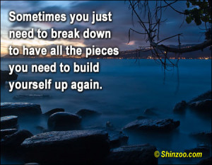 Sometimes You Just Need to break down ~ Break Up Quote