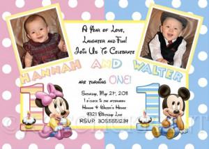 birthday invitation wording first birthday twins