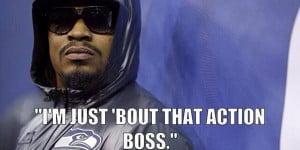 Marshawn Lynch is just Bout that action! www.footballfanhq.com