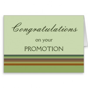 Congratulations on your Promotion Stationery Note Card