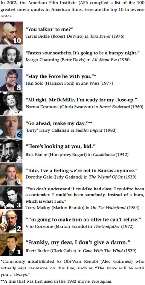 greatest movie quotes