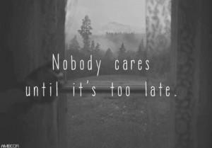 crazy, death, depressing, depression, disorder, nobody cares, quotes ...