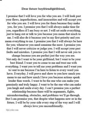 Dear future boyfriend/girlfriend