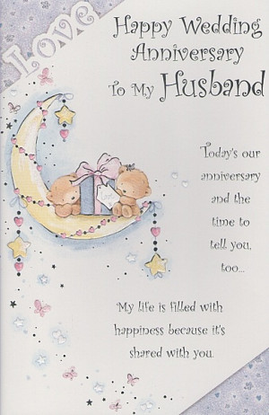 ... Anniversary Cards, Husband, Happy Wedding Anniversary To My Husband