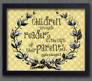 Children Are Made Readers In The Laps Of Thier Parents - Children ...