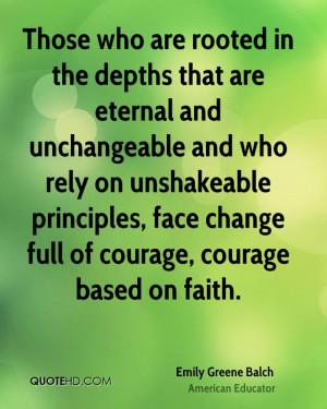 Emily Greene Balch Faith Quotes