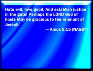 Amos 5:15 NASB Slide / Blank Slide