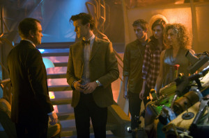 Canton Delaware (MARK SHEPPARD), left, The Doctor (MATT SMITH), Rory ...