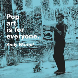 Andy Warhol Quotes Pop in color