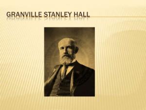 Stanley Hall Book Las aventuras de g. stanley