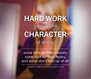 hard_work_text_on_girl_face
