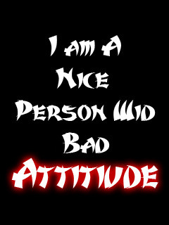 Bad Attitude Wallpaper 240x320 attitude, bad, cool, nice,