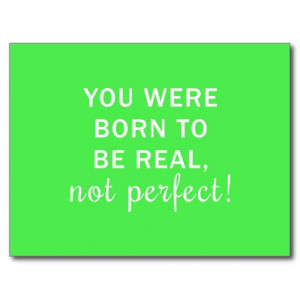 Neon Green Quote in White Postcards