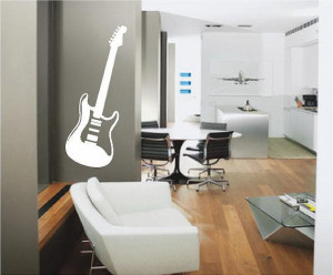 Electric Guitar Any Room Vinyl Wall Decals by SweetumsSignatures, $5 ...