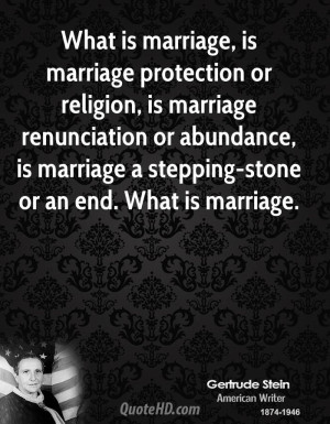 ... abundance, is marriage a stepping-stone or an end. What is marriage