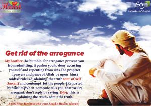 Get rid of arrogance