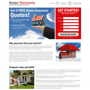 home insurance lp 20 category home insurance type landing page design ...