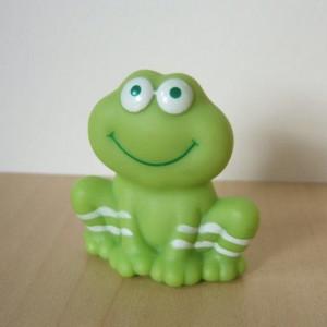 Cute Vintage Frappe Frog Figure