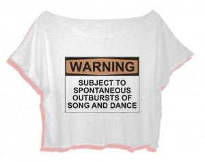 quotes shirt dance women crop top warning subject to spontaneous ...