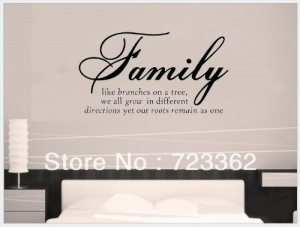 Family Like Branches On A Tree vinyl lettering wall sayings home art ...