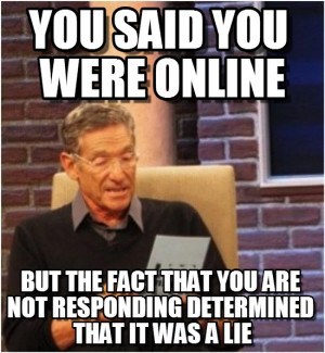 Maury Lie Detector : You Said You Were Online, But The Fact That You ...
