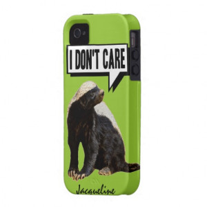 Funny Talking Honey Badger Case-Mate iPhone 4 Case