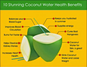 ... solve some health issues during pregnancy, by using the coconut water