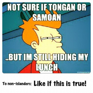even we islanders hide from other islanders for our lunch haha #samoan ...