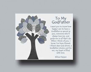 Godfather gift - Personalized gift for Godfather, Godfather Gift from ...