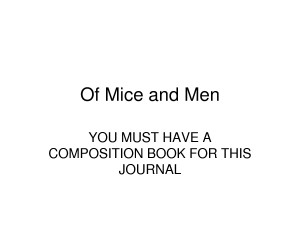 Of Mice and Men Quote by MikeJenny