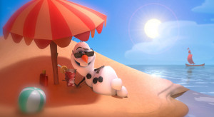 Olaf the Snowman From Disney's 'Frozen' Sings 'In Summer'