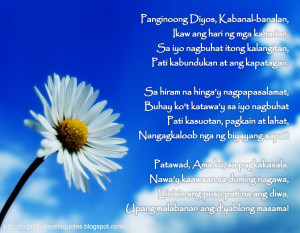 Tagalog Prayers and Christian Quotes