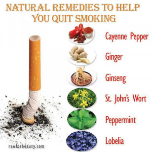 Natural remedies to help you quit smoking