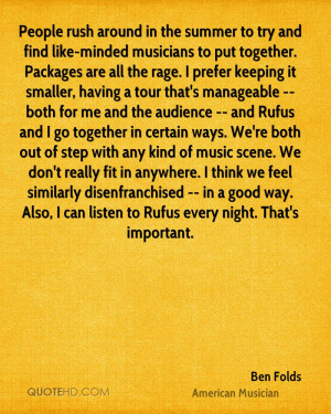 Ben Folds Quotes QuoteHD