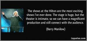 More Barry Manilow Quotes
